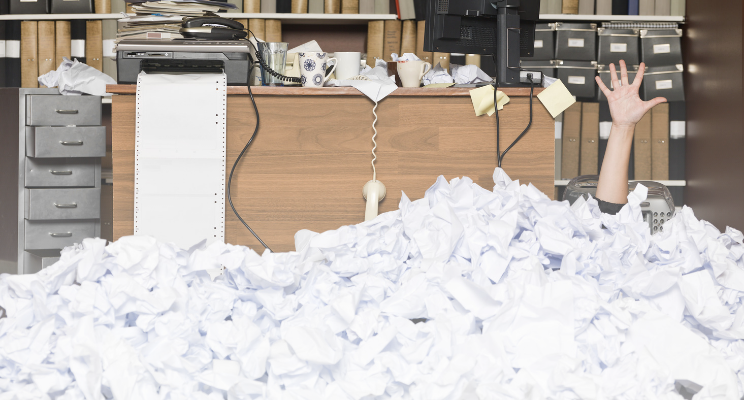 organize your finances dirty office help
